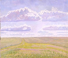 field in blossom by valentin sidorov