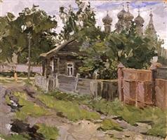 ipatievskaya village. kostroma by vladimir feodorovitch stozharov