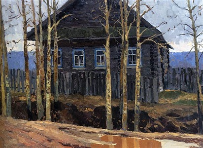 a house with black poplars by vladimir feodorovitch stozharov