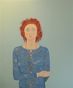 self-portrait at age 42 by joan brown