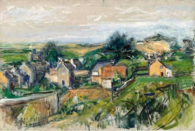 landscape by béla adalbert czóbel