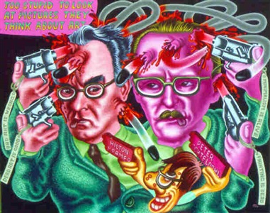 art critics' suicide by peter saul