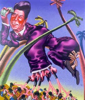 ronald reagan in grenada by peter saul