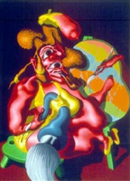 woman artist ii by peter saul