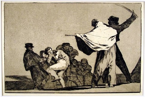 dos a uno, meten la paja en el culo (if two to one stuff your arse with straw), also titled disparate conocido (the well-known folly) by francisco de goya