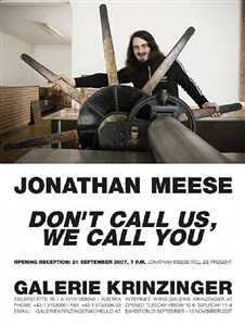 jonathan meese dont call us, we call you by jonathan meese