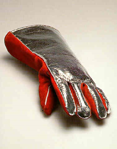 fireman's glove with photograph (edition for parkett 45) by roman signer