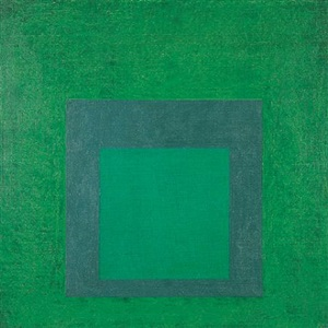 new greens – homage to the square by josef albers