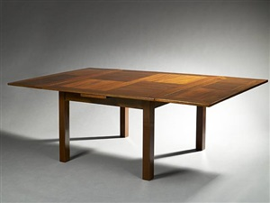 varnished mahogany dining room table by djo-bourgeois