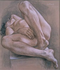 reclining nude nm252 by paul cadmus