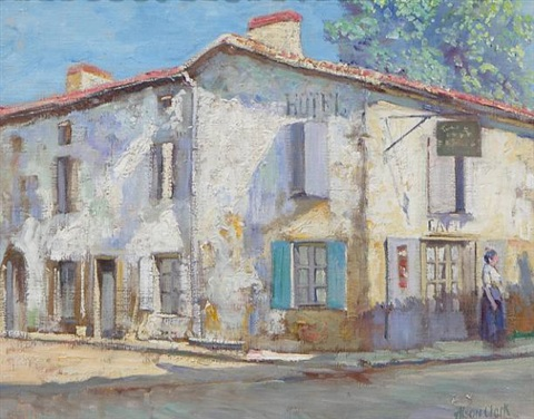 street in la roche, france by alson skinner clark