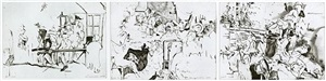untitled (after hogarth etchings) by cecily brown
