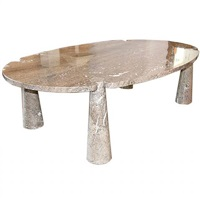 solid marble eros dining table by angelo mangiarotti