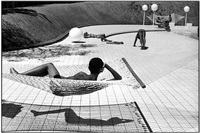 swimming pool designed by alain capeilleres, la brusc, france by martine franck