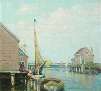 from main-street, nantucket by volney allan richardson
