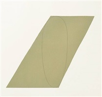 attic series (untitled v) by robert mangold