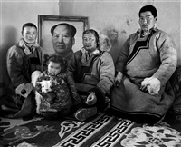mongolian yurts--songlai (age 50) and his family, inner mongolia, march by a yin