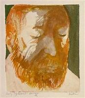 self portrait at 59 by leonard baskin