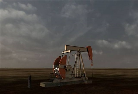 animated scene (oil field) by john gerrard