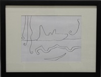 abstract line drawing by william baziotes
