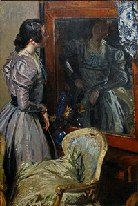 the mirror by jacques emile blanche