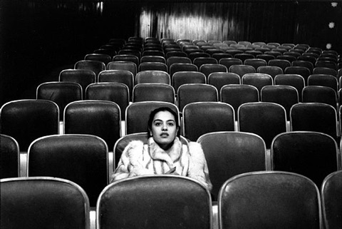 woman in theatre by fouad elkoury