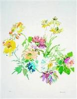 automn flowers by oskar kokoschka
