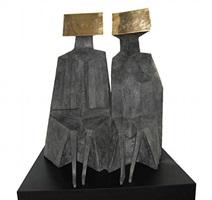 sitting figures c91s by lynn chadwick
