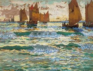 boats. capri (sold) by konstantin ivanovich gorbatov