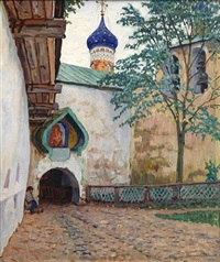 pechersky monastery (sold) by nikolai petrovich bogdanov-bel'sky