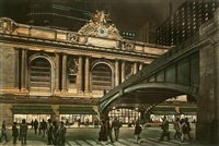 above the rush (grand central terminal) by frederick mershimer