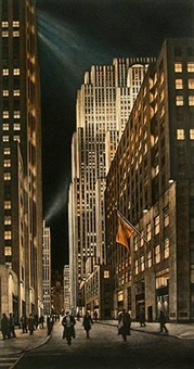 center stage (rockefeller center) by frederick mershimer