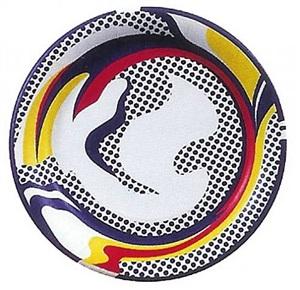 paper plate by roy lichtenstein