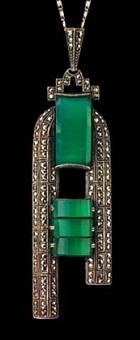 art deco pendant by theodor fahrner (co.)