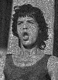 mosaic: mick mouth by lynn goldsmith