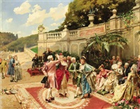 the garden party by henri victor lesur