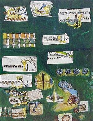 skogsspår (trail of prints in the woods) by öyvind fahlström