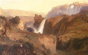 les cascatelles de tivoli (the cascades of tivoli) by paul huet
