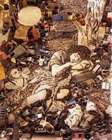 diana and endymion (detail), after francesco mola (pictures of junk) by vik muniz