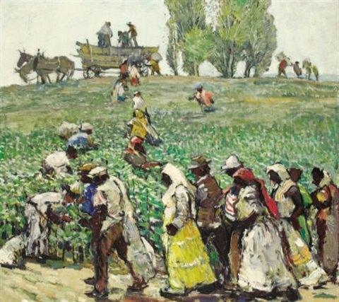 gotton pickers by millard sheets