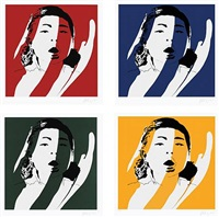 set of 4 by blek le rat