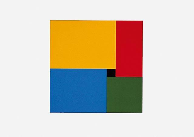 aus portfolio '3sat-galerie' mit 12 original-serigraphien by anton stankowski