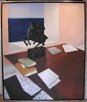 the writer's desk by julio larraz