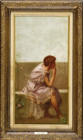 figure in roman dress 2 others 3 works by sir lawrence alma tadema