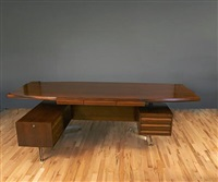 desk and armchair for tecno by osvaldo borsani