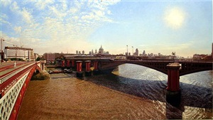 st. paul's from blackfriars bridge by clive head