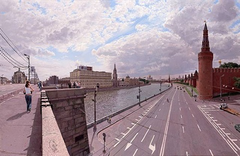 clouds over the moskva river by clive head