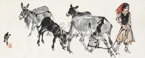 少女牧驴图 by huang zhou