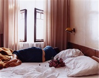 ohne titel (flowers on bed) by aino kannisto