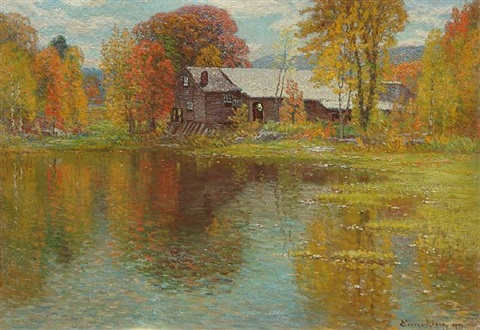 old mill, north sutton, new hampshire by john joseph enneking